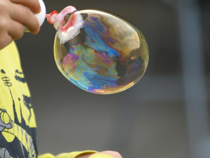 bulles de savon idée joyeux anniversaire