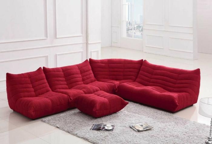 canapé togo inspiration en rouge