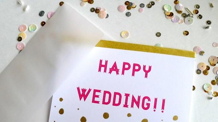 carte avec texte félicitation mariage