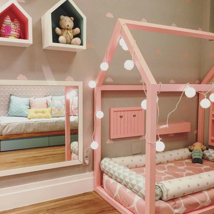 chambre montessori idée en rose
