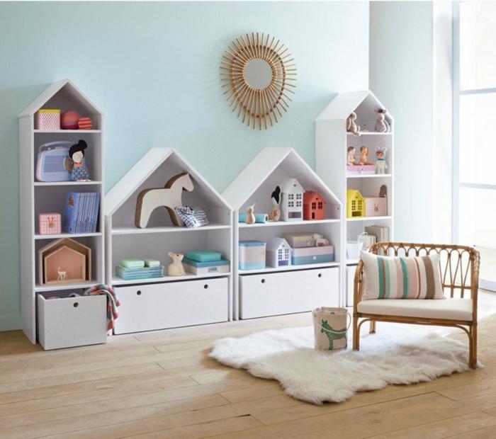 chambre montessori idée pour les jouets et les livres