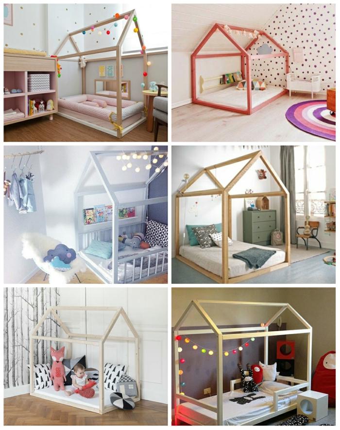 chambre montessori idées lit enfant