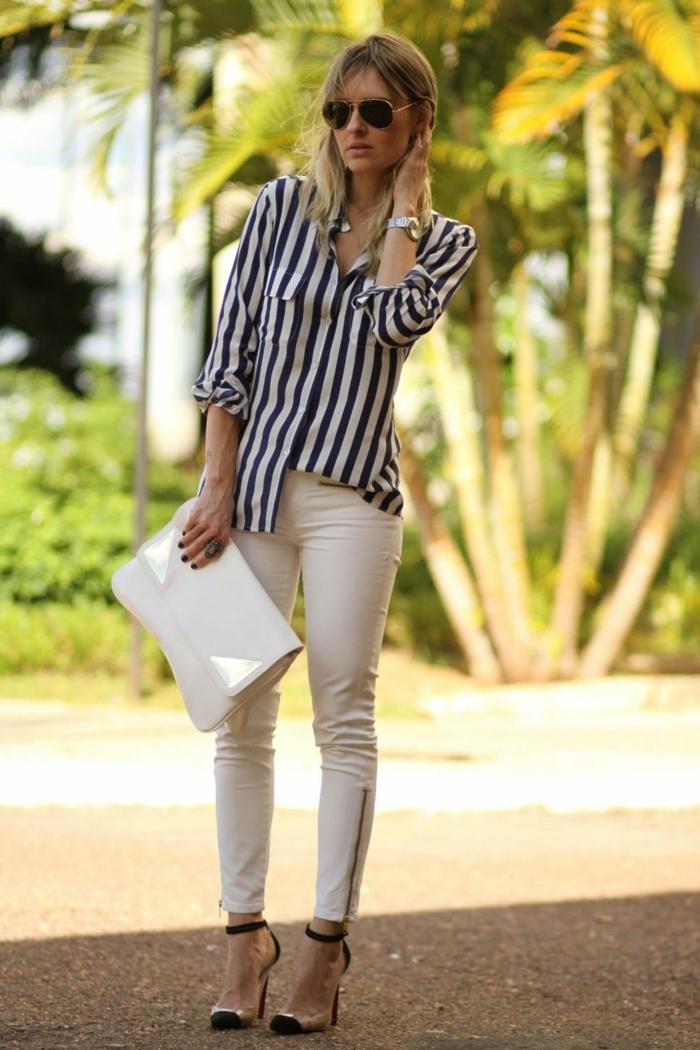 chemise femme rayures comment porter