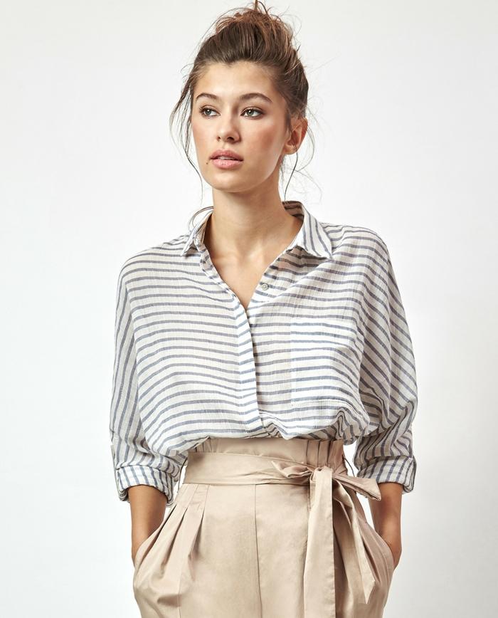 chemise femme rayures horizontales