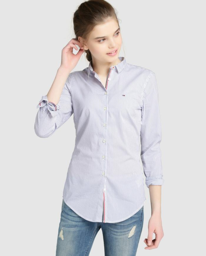 chemise femme rayures idée