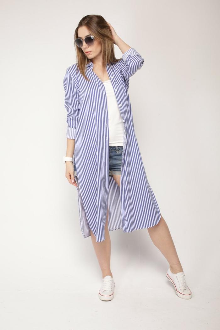chemise femme rayures modèle robe et shorts