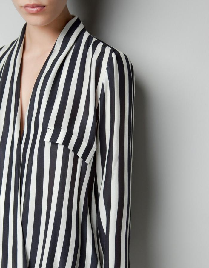 chemise femme rayures pour allonger votre silhouette