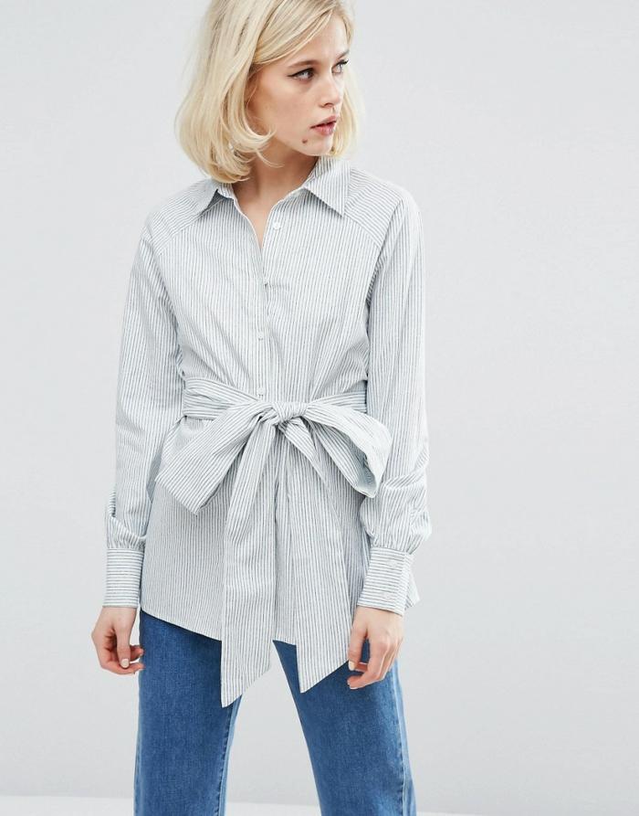 chemise femme rayures tendances printemps