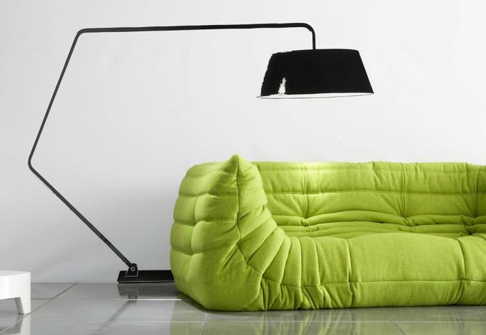 couleur vert canapé togo