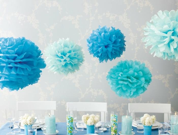 déco joyeux anniversaire en bleu
