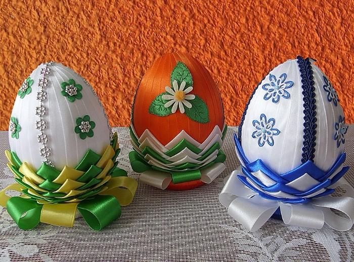 décoration oeufs en tissu déco de pâques