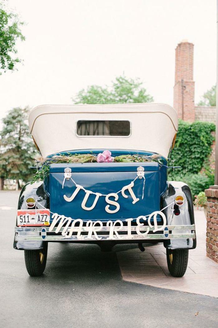 décoration voiture mariage inspirante