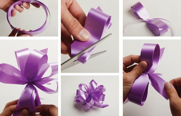 decoration voiture mariage diy un noeud
