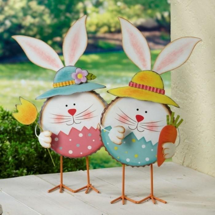 diy lapin de pâques en carton déco de pâques