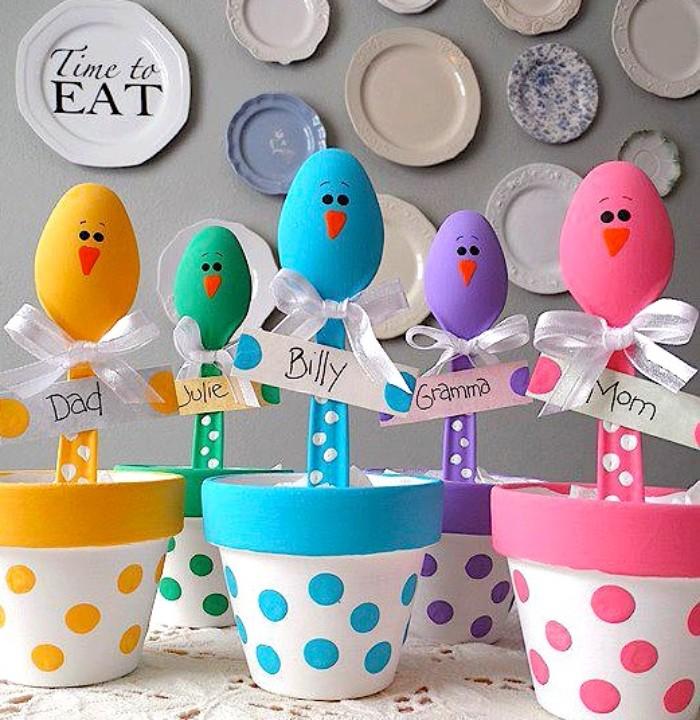 diy pots décorés déco de pâques