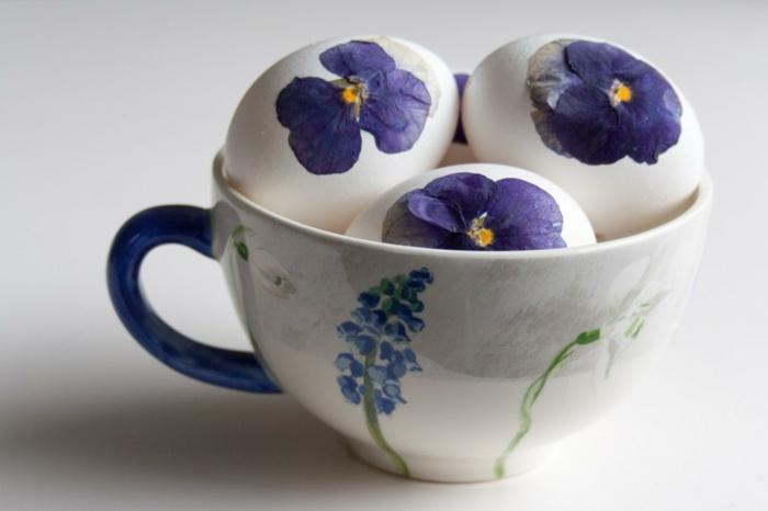 idée œuf de paques avec fleurs