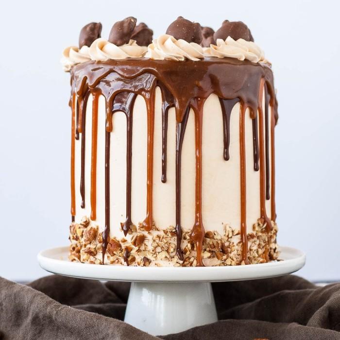 idée décoration gâteau bonbons caramel chocolat