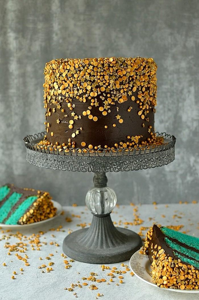 idée décoration gâteau décors en sucre pour gâteau