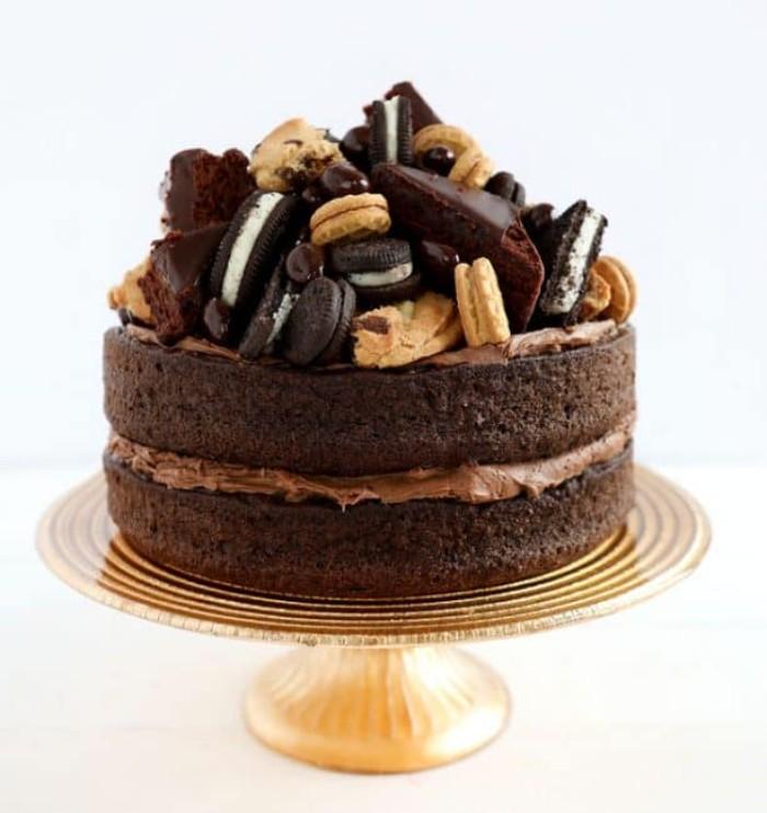 idée décoration gâteau différents types de biscuits