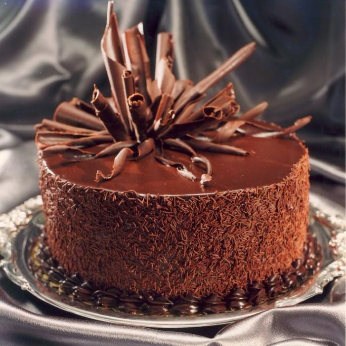 idée décoration gâteau en utilisant du chocolat