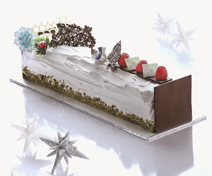 idée décoration gâteau fêtes de noël