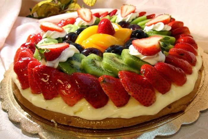 idée décoration gâteau fruits saisonniers