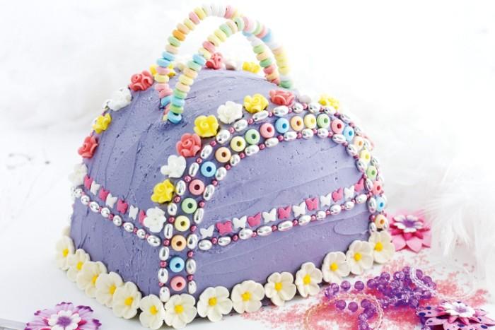 idée décoration gâteau sac à main fille