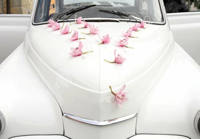 idée de décoration voiture mariage