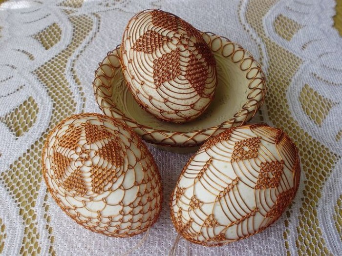 idée diy déco de pâques tricotage