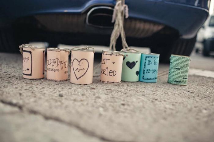 idée originale de décoration voiture mariage