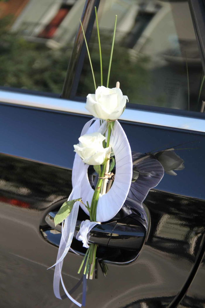 inspiration décoration voiture mariage
