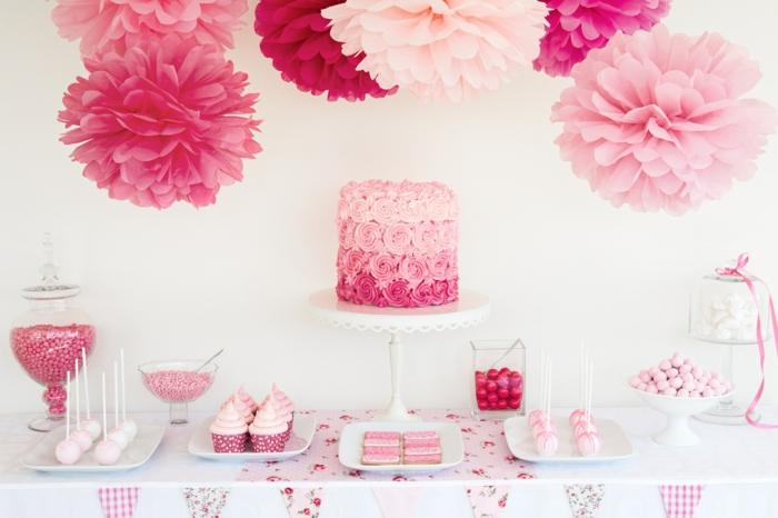 joyeux anniversaire déco en rose