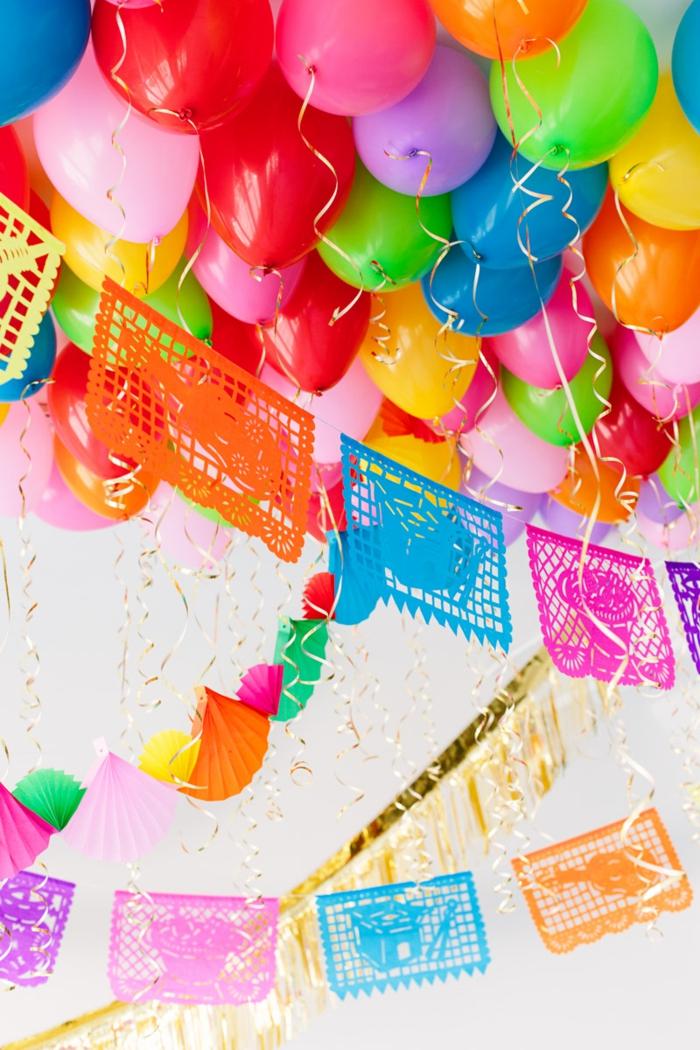 joyeux anniversaire décoration colorée