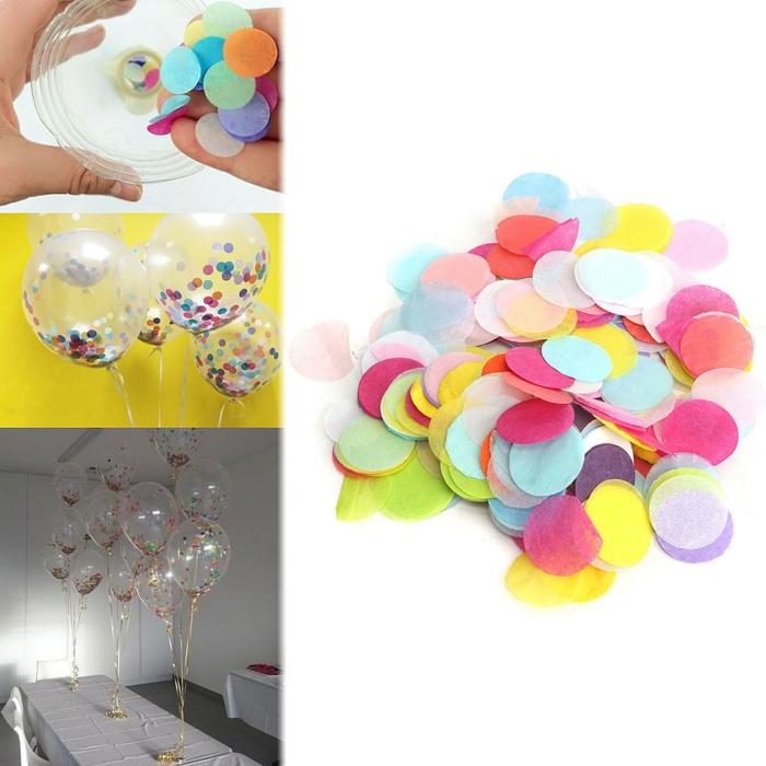 joyeux anniversaire diy ballons avec des confettis