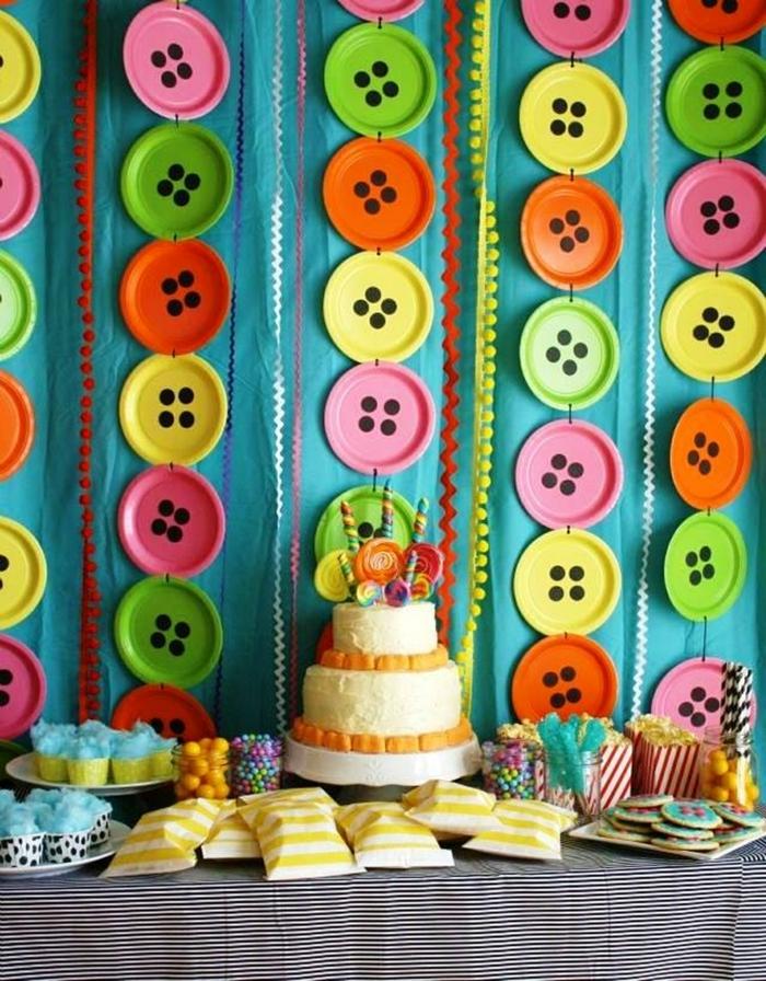 joyeux anniversaire idée déco table