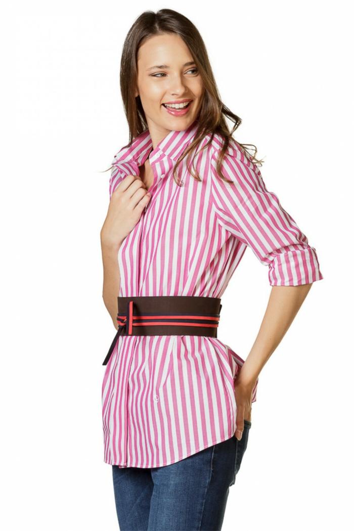 longue chemise femme rayures