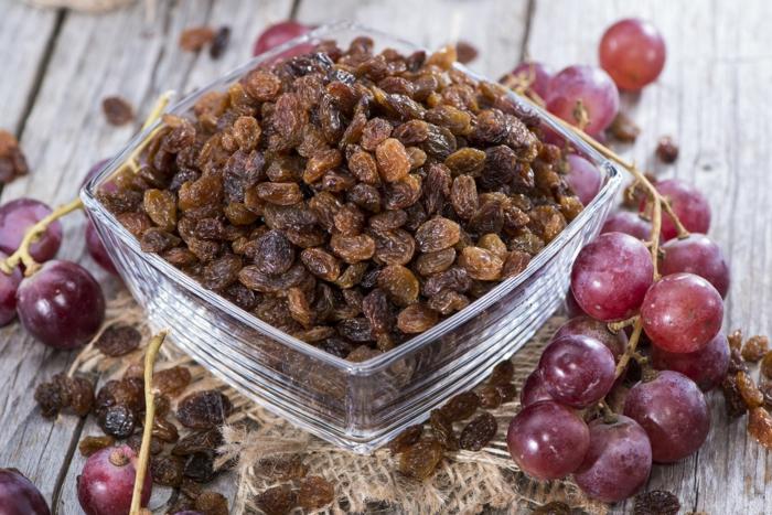 nettoyage du foie raisins secs