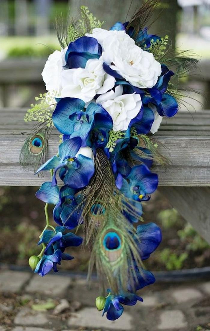 plume de paon idée bouquet