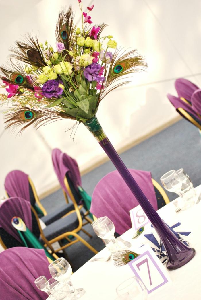 plume de paon idée décoration mariage