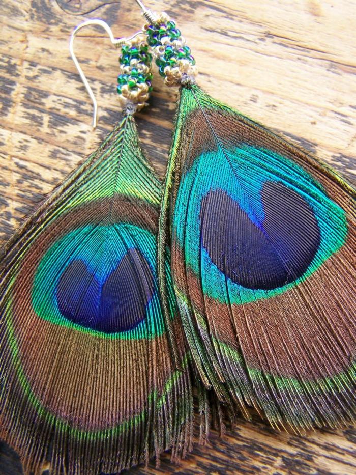 plume de paon idée de bijoux