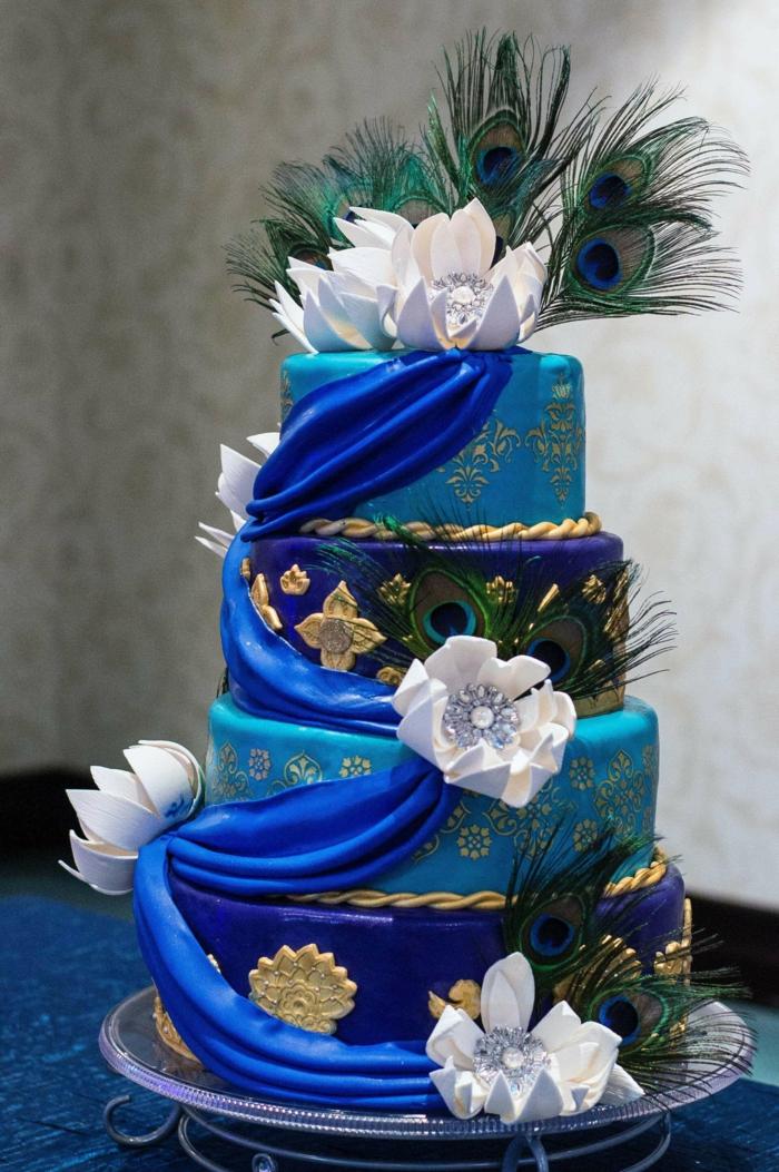 plume de paon idée gâteau intéressant
