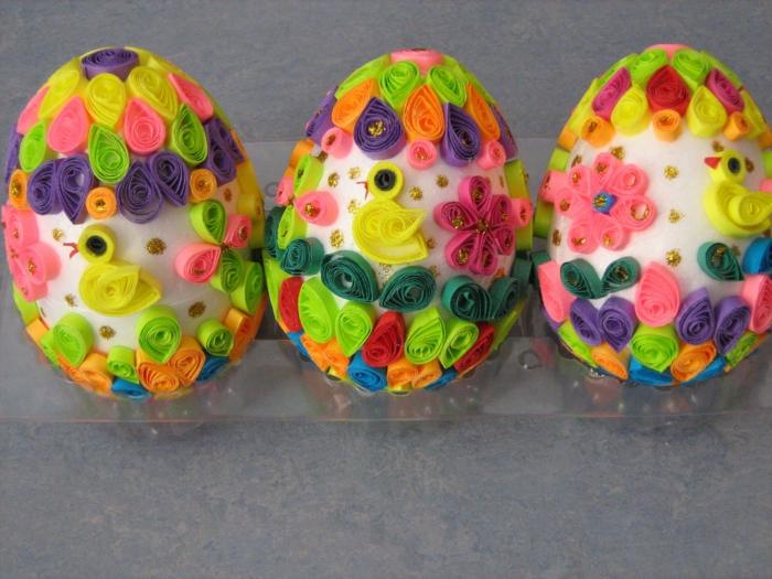 quilling idée pour un œuf de paques