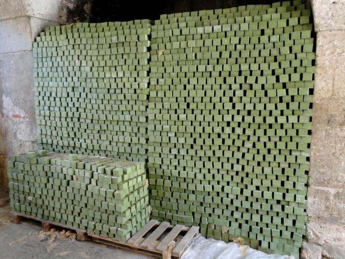 savon d' Alep fabrication et séchage