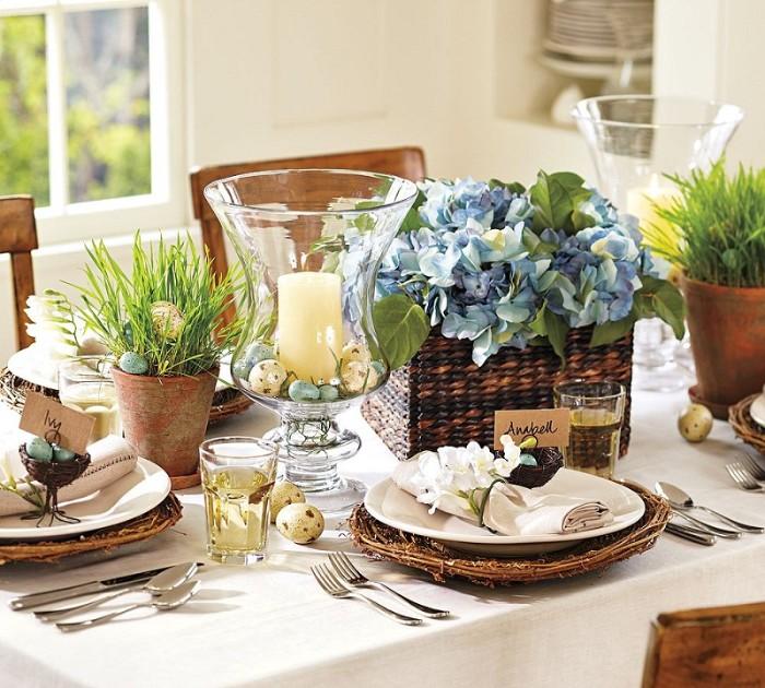 table festive décoration idée déco de pâques