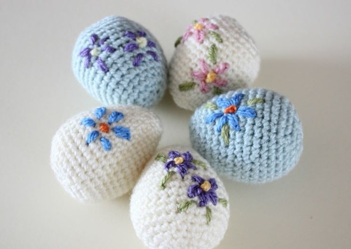 tricotage idée oeufs déco de pâques