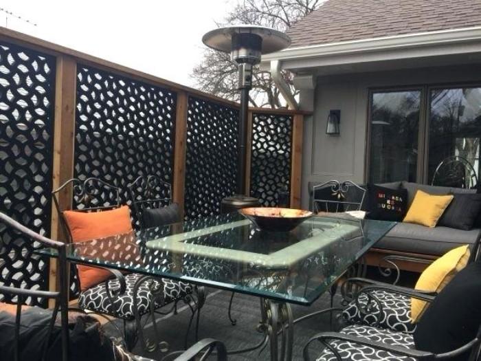bois et métal brise-vue terrasse