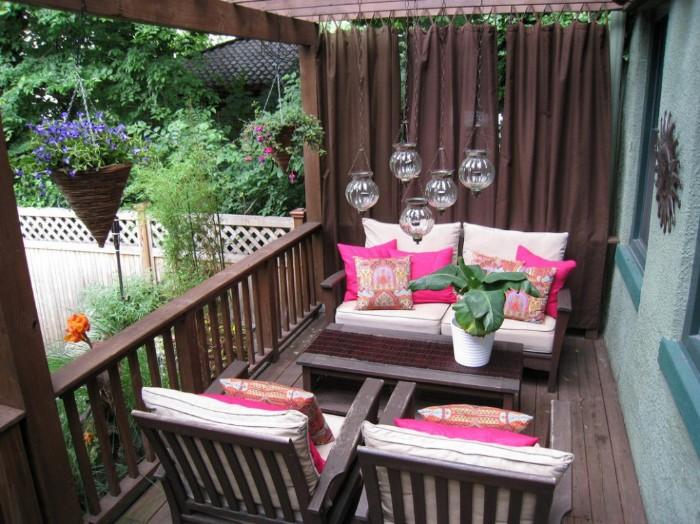 brise-vue balcon rideaux