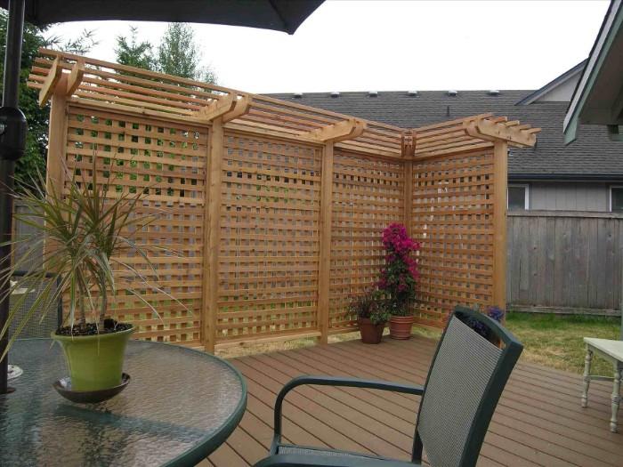 brise-vue en bois terrasse