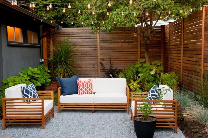 brise-vue jardin clôture en bois