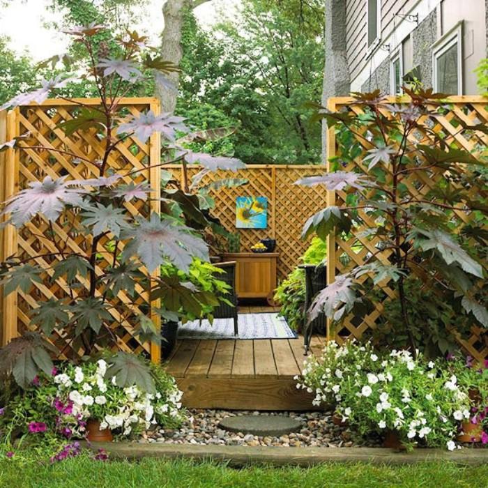 brise-vue jardin coin privé